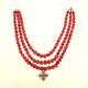 Cracow jewelry, Red coral beads from Cracow with a cross